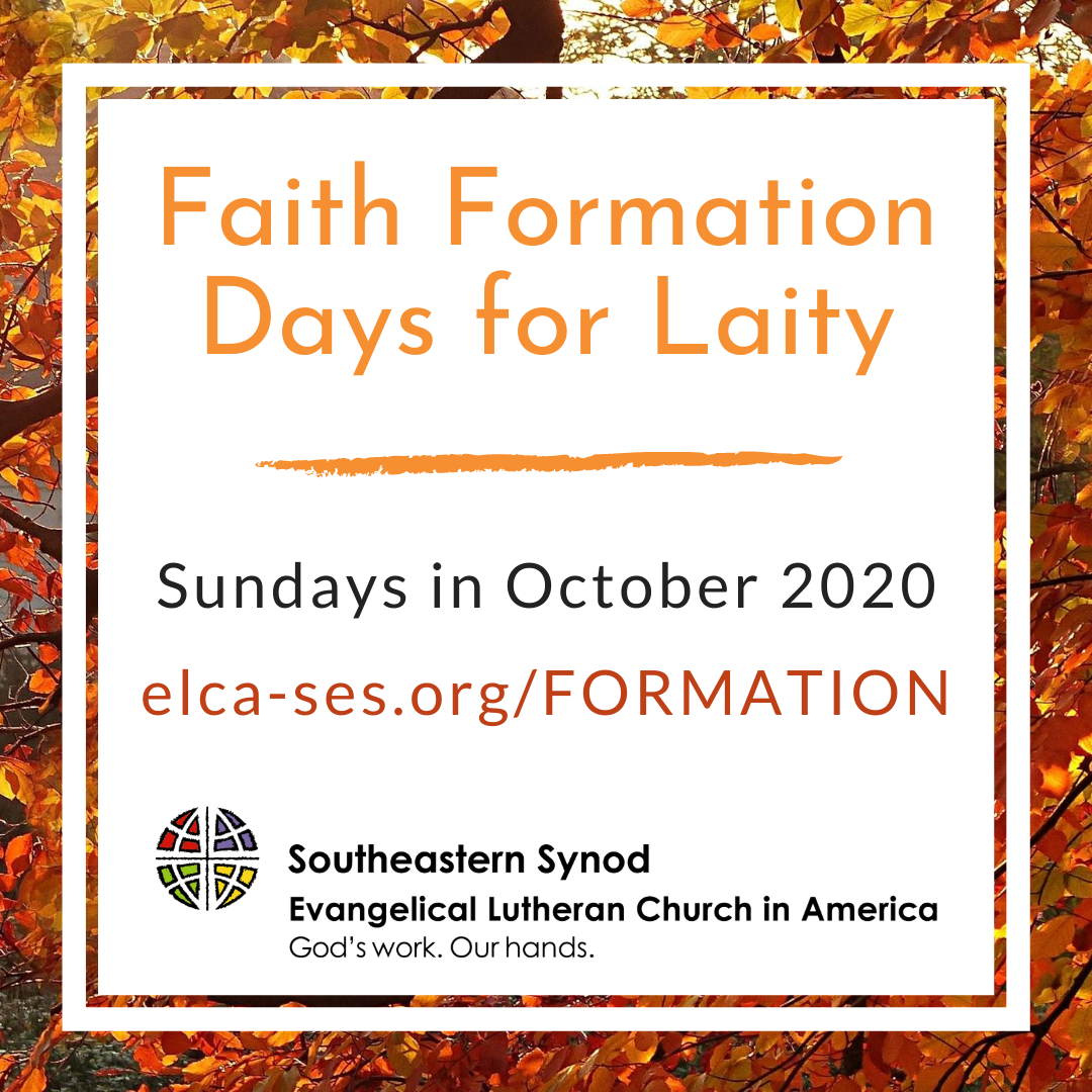 October 2020 Faith Formation Days For Laity