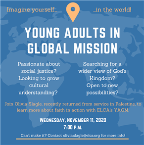 Young Adults in Global Mission CANCELLED